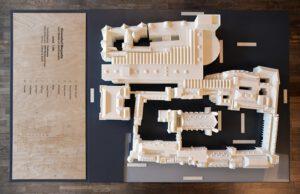 Foto: de omgevingsmaquette van het Binnenhof.