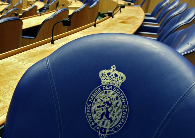 Detail stoel Plenaire Zaal Tweede Kamer