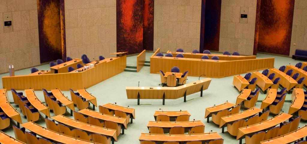 De plenaire zaal van de Tweede Kamer