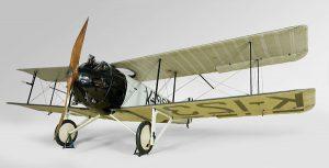 Vliegtuigje uit de eerste wereldoorlog uit de collectie van het Rijksmuseum