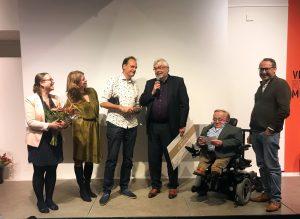 Uitreiking eerste prijs aan Museum Sonnenborgh.
