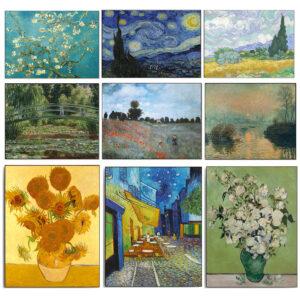 Collages verschillende beroemde schilderijen.