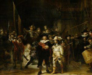 Nachtwacht door Rembrandt van Rijn, 1642.